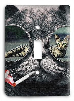 Cat In Glasses v13 Light Switch - Colorful Switches