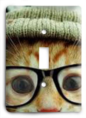 Cat In Glasses v15 Light Switch - Colorful Switches