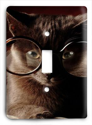 Cat In Glasses v5 Light Switch - Colorful Switches