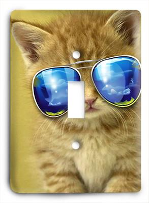 Cat In Glasses v9 Light Switch - Colorful Switches