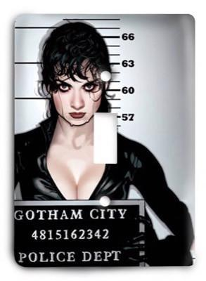 Catwoman mugshot Batman Marvel Comics G3 Light Switch Cover - Colorful Switches