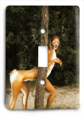 Cheetah Girl Light Switch - Colorful Switches