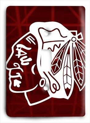 Chicago Blackhawks Ice Up Light Switch - Colorful Switches