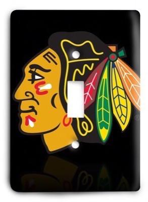 Chicago Blackhawks NHL 02 Light Switch Cover - Colorful Switches