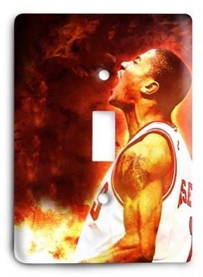 Chicago Bulls  NBA 005v Light Switch Cover - Colorful Switches