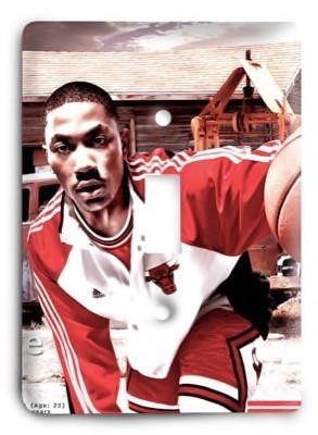 Chicago Bulls  NBA 013 Light Switch Cover - Colorful Switches