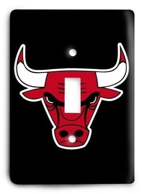 Chicago Bulls  NBA 016 Light Switch Cover - Colorful Switches