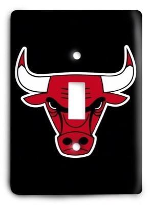 Chicago Bulls  NBA 016v Light Switch Cover - Colorful Switches