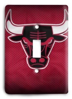 Chicago Bulls  NBA 026 Light Switch Cover - Colorful Switches