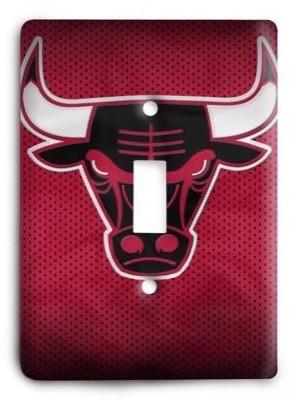 Chicago Bulls  NBA 026v Light Switch Cover - Colorful Switches