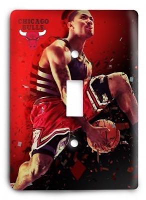 Chicago Bulls  NBA 031v Light Switch Cover - Colorful Switches