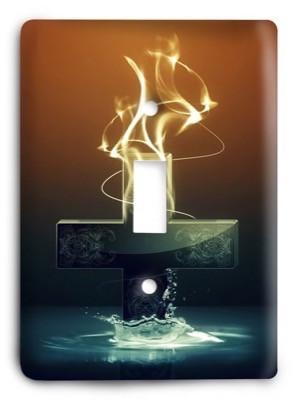 Christian Flame Light Switch Cover - Colorful Switches