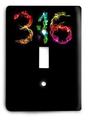 Christian John 3 16 v02 - 33 Light Switch Cover - Colorful Switches