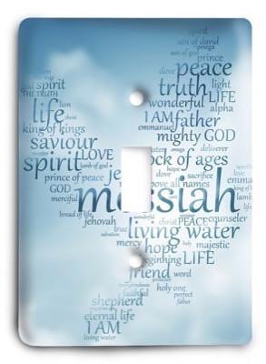 Christian Messiah g3 - 6 Light Switch Cover - Colorful Switches