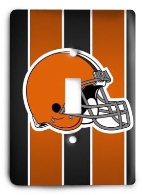 Cleveland Browns NFL 6 Light Switch Cover - Colorful Switches