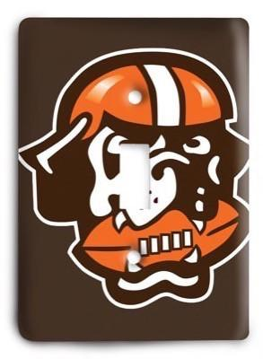 Cleveland Browns NFL 8 Light Switch Cover - Colorful Switches