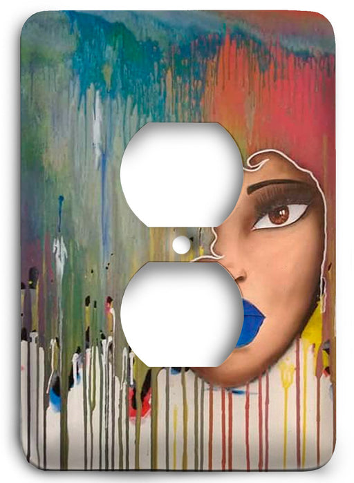 Color Me Afro Outlet Cover - Colorful Switches