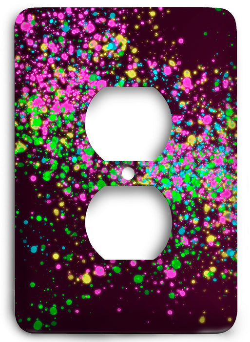 Colorful Textures Design  v03 Outlet Cover - Colorful Switches