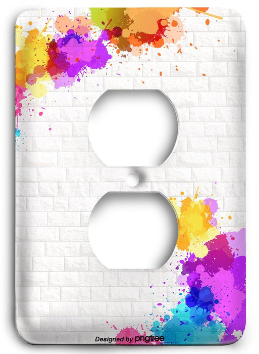 Colorful Textures Design  v11 Outlet Cover - Colorful Switches