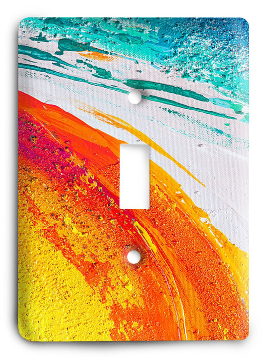 Colorful Textures Design  v61 Light Switch Cover - Colorful Switches