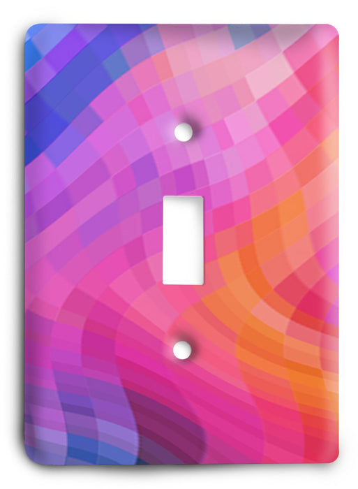 Colorful Textures Design  v67 Light Switch Cover - Colorful Switches