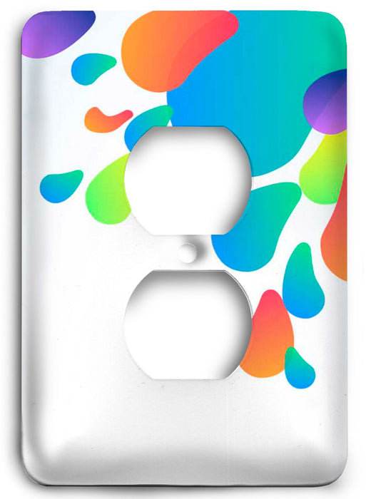 Colorful Textures Design  v84 Outlet Cover - Colorful Switches