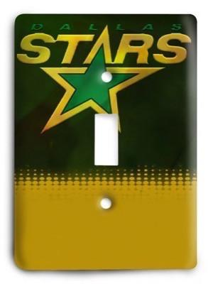 Dallas Stars NHL 4 Light Switch Cover - Colorful Switches