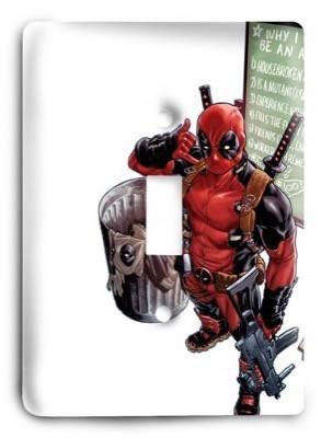 Deadpool Marvel Comics G3 13 Light Switch Cover - Colorful Switches