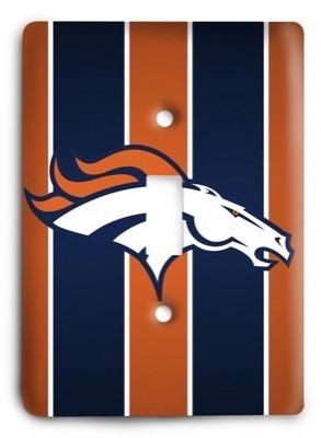 Denver Broncos NFL 25 Light Switch Cover - Colorful Switches