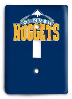 Denver Nuggets   NBA 4 Light Switch Cover - Colorful Switches