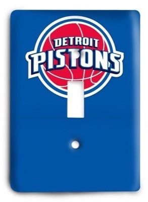 Detroit Pistons  NBA 3v Light Switch Cover - Colorful Switches