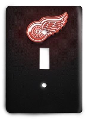 Detroit Red Wings NHL 2 Light Switch Cover - Colorful Switches
