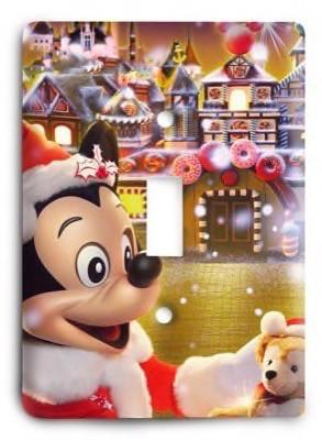 Disney Mickey Minnie Christmas Light Switch Cover - Colorful Switches