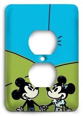 Disney Mickey and Minnie Love v2 Outlet Cover - Colorful Switches