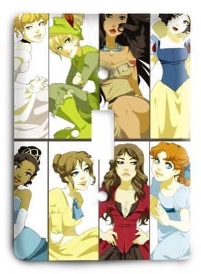 Disney Princess 1 Light Switch Cover - Colorful Switches