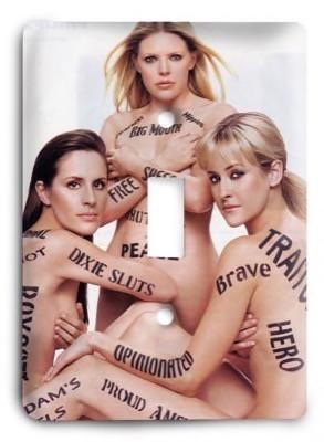 Dixie Chicks 3 Light Switch Cover - Colorful Switches