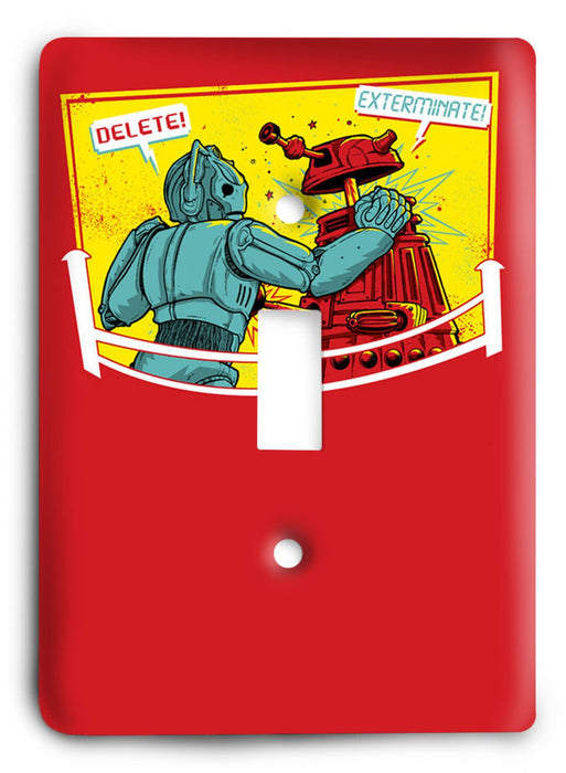 Doctor Who - Collector Series V114 Light Switch Cover - Colorful Switches