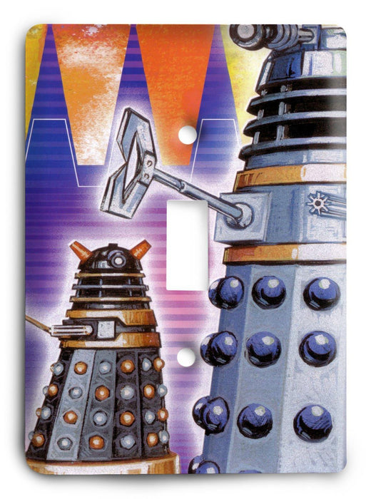 Doctor Who - Collector Series V75 Light Switch Cover - Colorful Switches