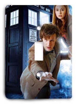 Doctor Who Dr Who G3 2 Light Switch Cover - Colorful Switches