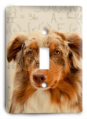 Dog In Glasses v13 Light Switch - Colorful Switches