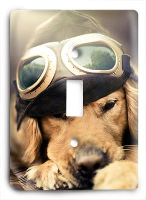 Dog In Glasses v21 Light Switch - Colorful Switches