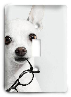 Dog In Glasses v22 Light Switch - Colorful Switches