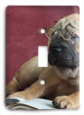 Dog In Glasses v3 Light Switch - Colorful Switches