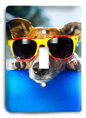 Dog In Glasses v6 Light Switch - Colorful Switches