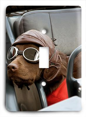 Dog In Glasses v7 Light Switch - Colorful Switches