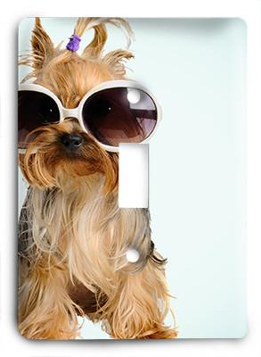 Dog In Glasses v8 Light Switch - Colorful Switches