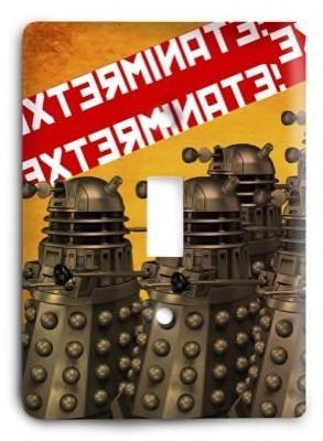 Dr Who g2 - 3 Light Switch Cover - Colorful Switches