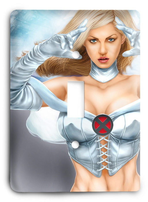 Emma Frost XMen Light Switch Cover - Colorful Switches