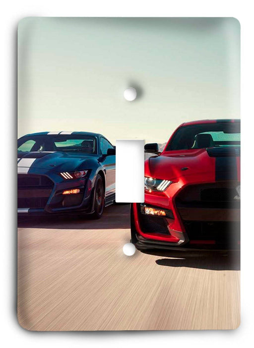 Ford Shelby Mustang  v05 Light Switch Cover - Colorful Switches