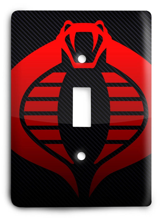GI Joe Cobra v2 Light Switch Cover - Colorful Switches